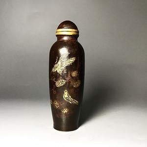 清代 老铜质鼻烟壶 小瓶一只