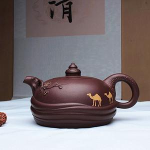 紫砂大师季益顺四大美女系列之:昭君出塞!