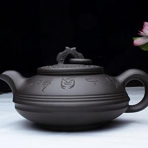 紫砂大师,研究员级高工鲍志强作品:有余金砂璧壶