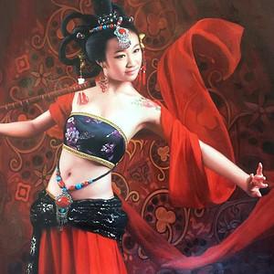 殿堂级收藏精品油画,著名画家张木林老师《舞者》80 150