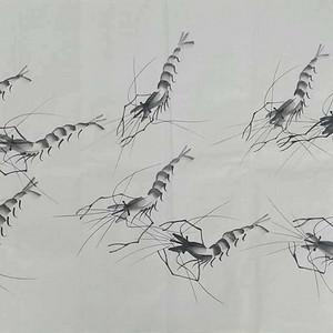 齐白石唯一在世弟子,国画大师董长青作品《九龙迎春潮》138X68cm