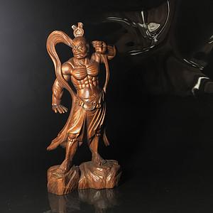 精工 木雕力士造像