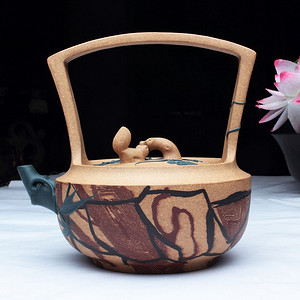 镇店之宝:紫砂大师季益顺 研高 作品:庭院深深 绞泥制作
