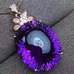 天然紫水晶吊坠