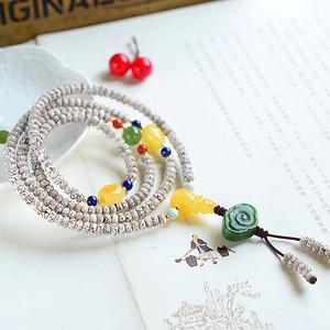 星月菩提配多宝项链