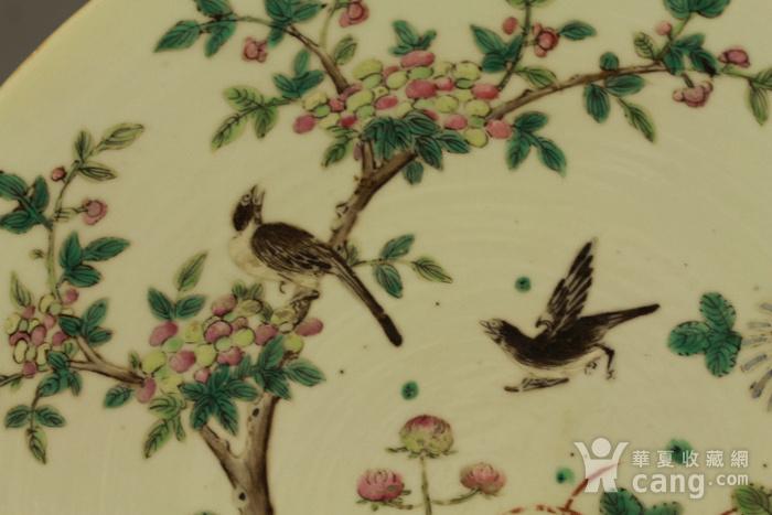 清中喜鹊登梅纹粉彩大盘图8