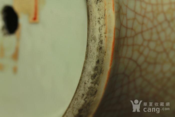 已鉴定 清乾隆哥釉青花如意纹观音瓶图11