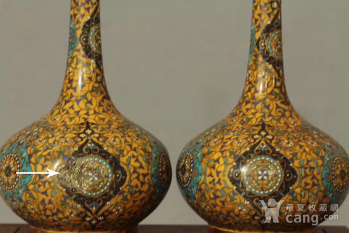 铜胎掐丝天球瓶一对图6