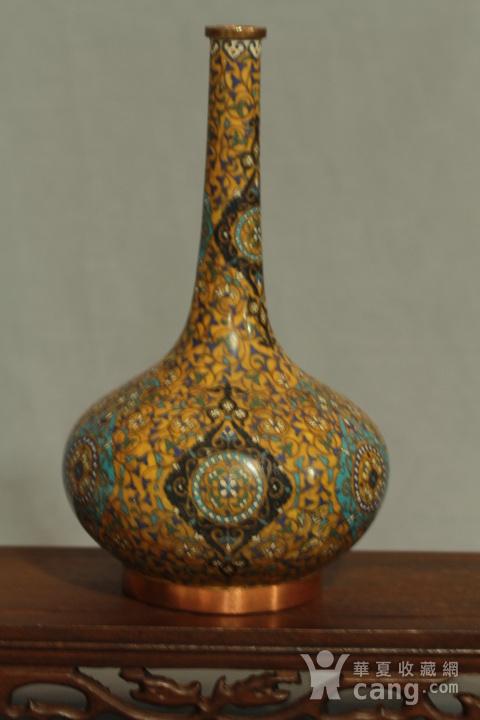 铜胎掐丝天球瓶一对图7