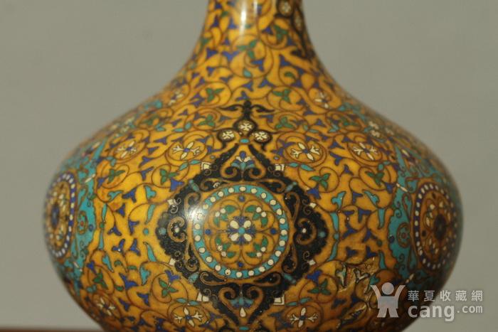 铜胎掐丝天球瓶一对图8
