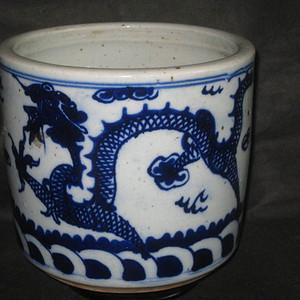清中期双龙戏珠大青花香炉