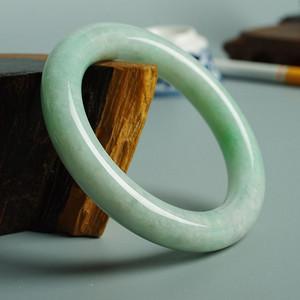 传统清式翡翠圆条手镯 56mm  17JL01
