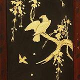 清代珍贵质材花鸟