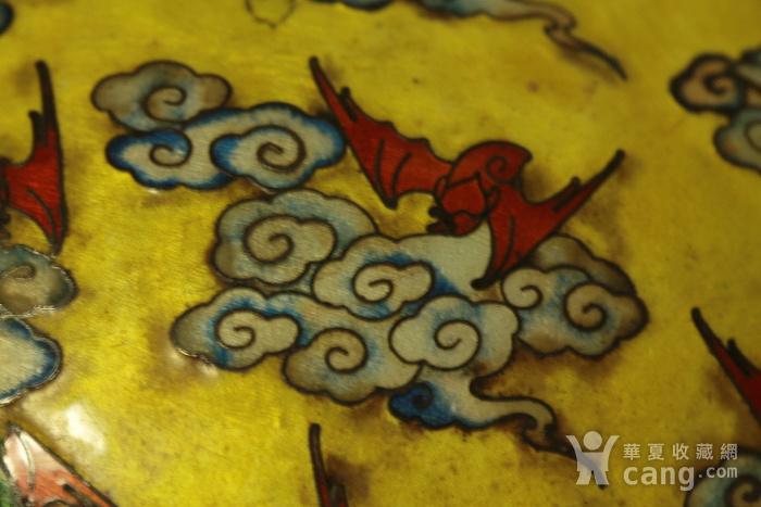 稀有精品 民国银胎画珐琅彩花鸟纹赏瓶图12