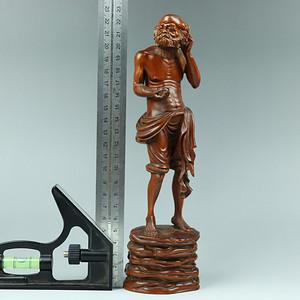 早期收藏黄杨木雕人物摆件