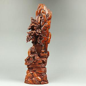 早期收藏的黄杨木雕珊子摆件