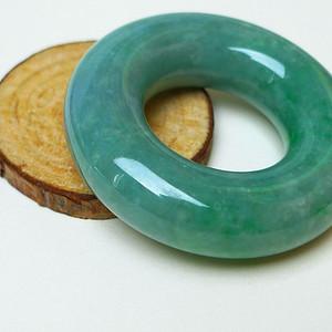 金牌冰润满绿平安环挂件