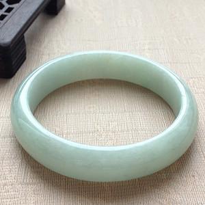 天然A货翡翠老冰种果绿手镯XC174