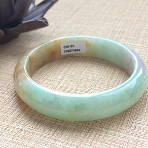 天然A货翡翠老冰种三彩手镯XC415