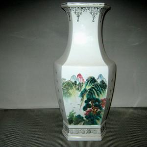五十年代六方瓷瓶