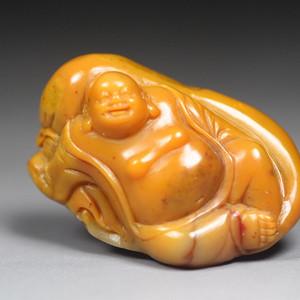 珍品收藏 寿山田黄石 《笑佛》圆雕