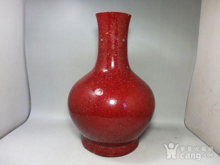 康熙郎红釉赏瓶图1