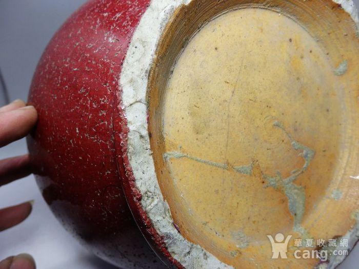 康熙郎红釉赏瓶图7