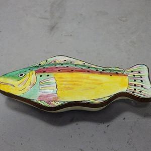 清代铜胎珐琅鱼形盖盒
