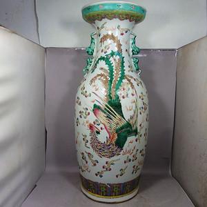 清代粉彩龙凤呈祥绘画赏瓶