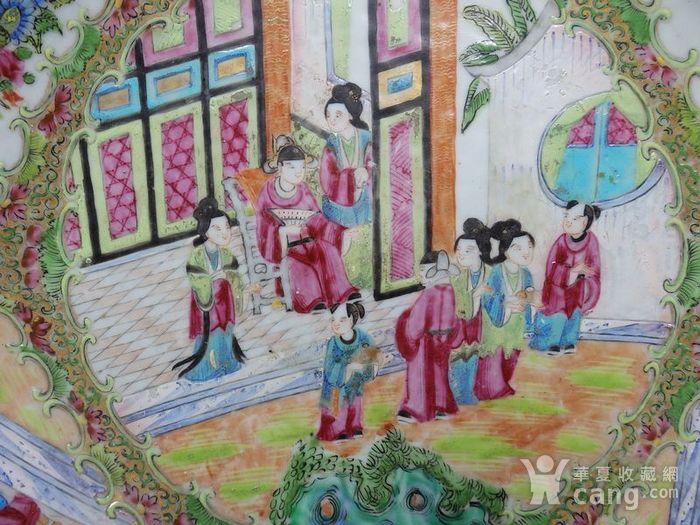 咸丰大号广彩人物开窗绘画海碗图5