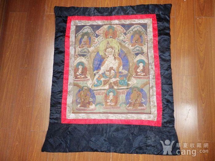 清代藏传观音绘画唐卡一副图1