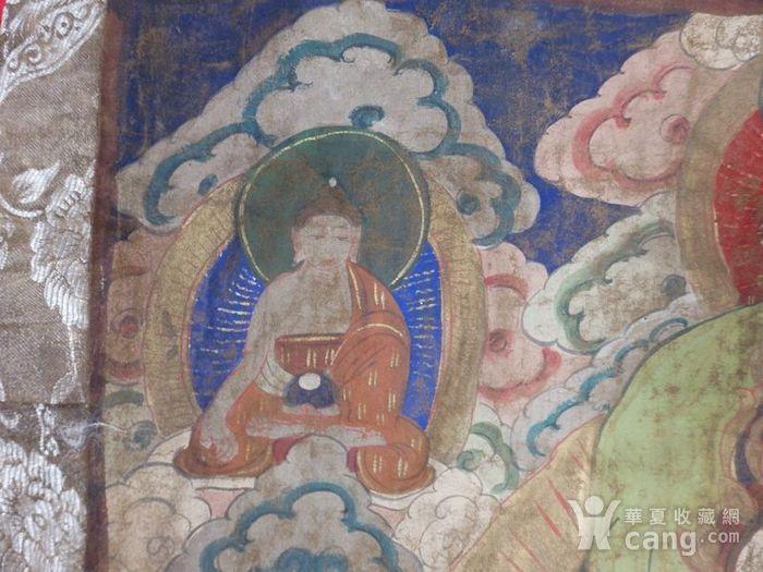 清代藏传观音绘画唐卡一副图3