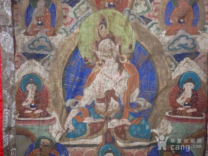 清代藏传观音绘画唐卡一副图2