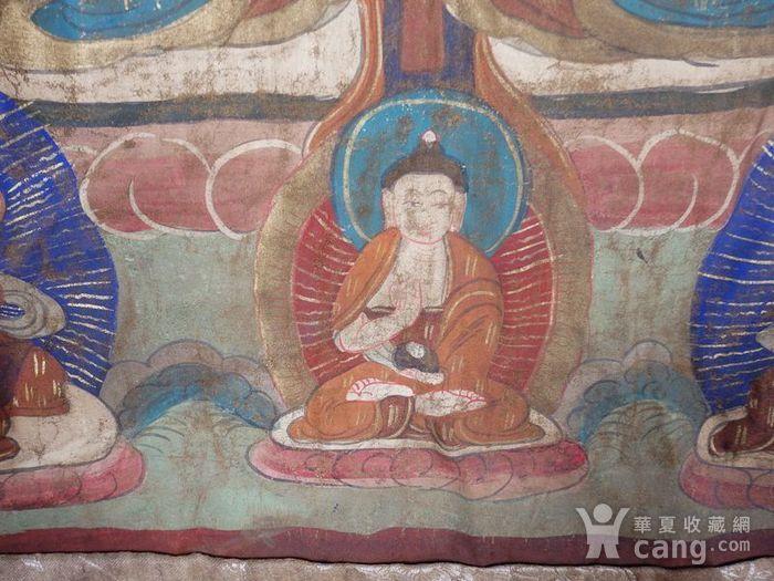 清代藏传观音绘画唐卡一副图4