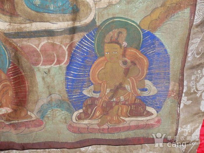 清代藏传观音绘画唐卡一副图5