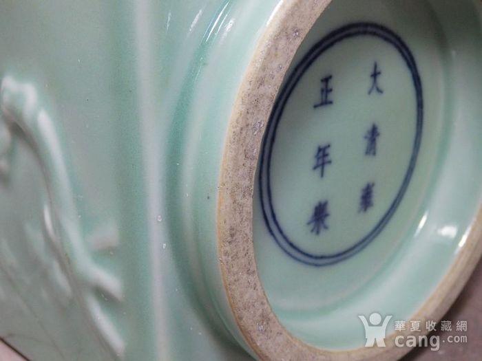清代豆青四面花卉高浮雕宗瓶图7
