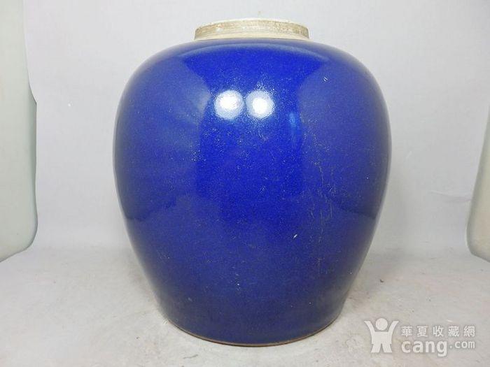 乾隆蓝釉罐图1