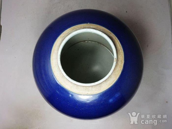 乾隆蓝釉罐图4
