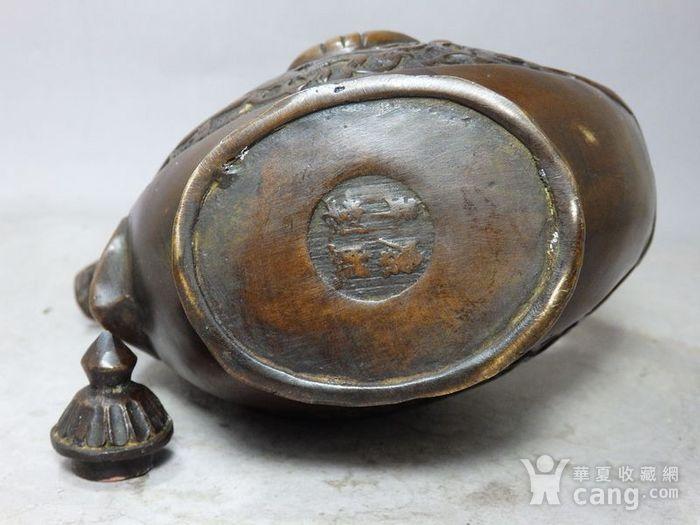 清代铜雕马壶图7