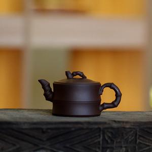 《竹段》吴亚强 作者认证 宜兴名家紫砂壶