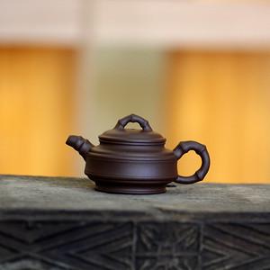 《竹节》吴亚强 作者认证 宜兴名家紫砂壶