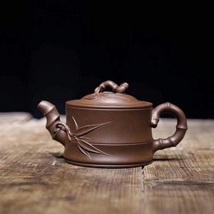 《竹段》徐国芬 作者认证 宜兴名家紫砂壶