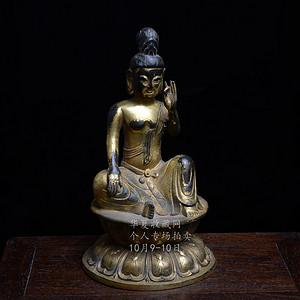 铜鎏金 观音 造像