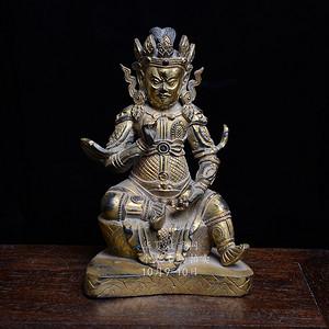 铜鎏金藏传 武财神造像