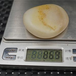 86克和田白玉籽料原石