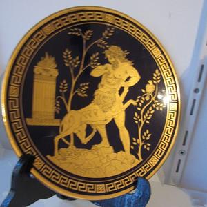 24K纯金描绘赫拉克勒斯勇斗巨狮大盘 12