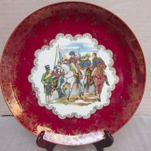 法国皇家名瓷:拿破仑人物故事粉彩描金花边大盘7
