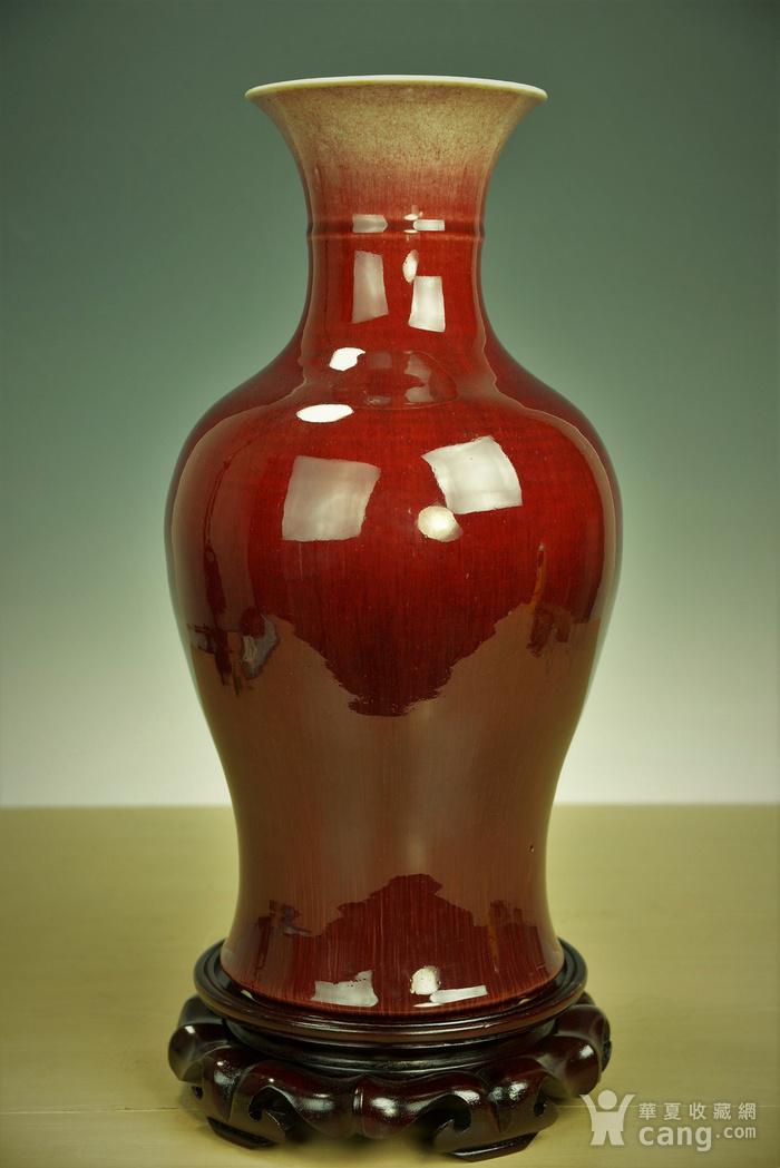 欧美回流  极美清代郎窑红釉观音瓶