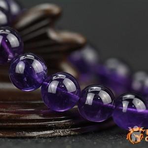 金牌 天然 紫水晶手珠26克