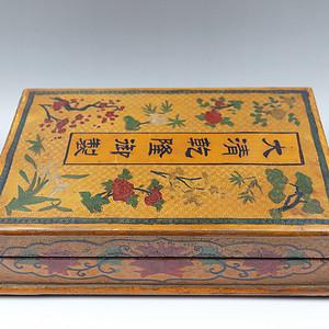 早期旧藏老雕填漆器盒
